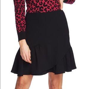 CeCe Moss Asymmetrical Ruffled Skirt